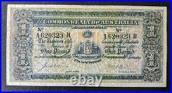 Australia R18e. 1913 Collins/Allen One Pound £1 nearly VF