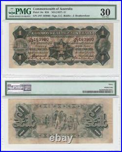 Australia, Riddle/Heathershaw, (1927) One Pound PMG VF30