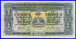 Australia one pound note, 1918 (Pick 4d), Cerutty Collins high grade
