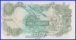 B322 Hz63 Last Run Page One Pound Bank Of England Note In Near Mint Condition