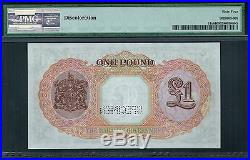 BAHAMAS 1936 £1 ONE POUND KING GEORGE P-11s UNC SPECIMEN PMG 64 NO WRITINGS