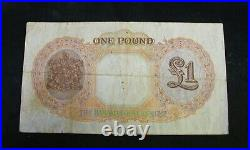 Bahamas 1936 £1 One Pound King George Bank Note Very Fine
