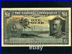 BahamasP-7,1 Pound, 1919 (1930) King George V RARE