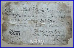 Bank Of England Henry Hase One Pound 1818