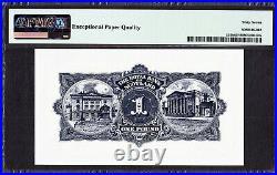 Bank of SCOTLAND One Pound 1st May 1962 P-324b SUPERB UNC PMG 67 EPQ TOP GRADE