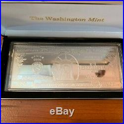 Billion Silver Proof One Quarter-Pound 4 troy oz. 999 Bar Washington Mint 2000