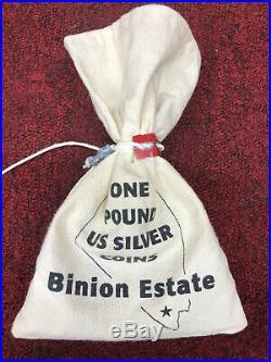 Binion Estate One Pound Sealed Bag US Silver Coins SUPER RARE FIND