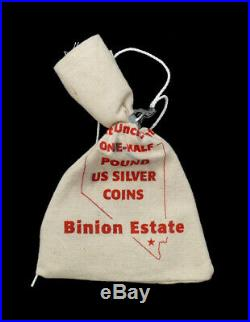 Binion Estate Sealed One Half Pound Bag Uncirculated Us Silver Coins