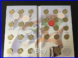 British Coin Hunt one pound full set 1st edition royal mint album £1 collection