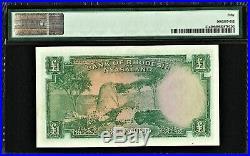 British, Rhodesia & Nyasaland QEII One Pound 1956 Pick-21a About UNC PMG 50