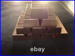 COPPER BAR LOT OF 20- 1 POUND-TRAPAZOID Premium Bars- STACKABLE-INGOT-unique