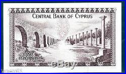 CYPRUS One Pound £1 Banknote 1978 P43c