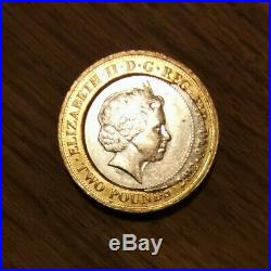 Charles Dickens 2 Pound Coin Error Rare One Off Mint Valuable