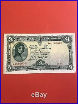 Currency Commission Irish Free State One Pound 1930. Date 4.7.30. Nice VF