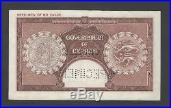 Cyprus One Pound Queen Elizabeth 1-6-1955 P35s Specimen Extremely fine