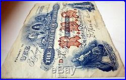 Decent Grade 1921 Royal Bank Of Scotland One Pound Banknote Signed Brown