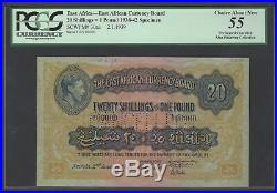 East Africa 20 Shilling- One Pound 2-1-1939 P30as Specimen About Uncirculated