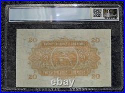 East Africa 20 Shillings/ 1 Pound 1955 PCGS 61 UNC, Pick #35, QE II. Rare