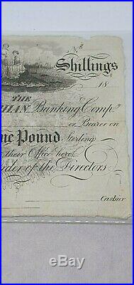 East Lothian Banking Company Twenty Shillings/one Pound Proof Note 18xx Rare