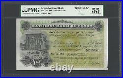 Egypt 100 Pounds 6-1-1909 P6s Specimen About Uncirculated Super Rare