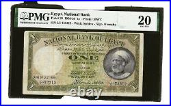 Egypt One Pound p20 1926 sign. Hornsby PMG 20 Vey Fine