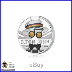 Elton John Silver Proof £2 Coin Royal Mint Limited Edition One Ounce Two Pound
