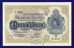 FALKLAND ISLANDS P-8b. 1974 One Pound. Elizabeth 11 Portrait. UNC