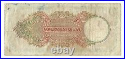 FIJI 1 Pound 1951, P-40f, Handsome George VI Large Sized Banknote, Original F/VF