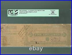 Falkland Islands Lot P-A1 A3 1899 1900 1901 5 Shillings 1 Pound VF Proof PCGS-30