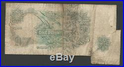 Fishtail Error Extra Paper B288 Hollom 1963 One Pound £1 Banknote Fine