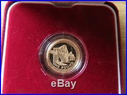 Forth Bridge Gold Proof Commemorative One Pound Coin