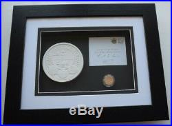 Framed 2010 Royal Mint £1 One Pound 19.61g Belfast Proof Gold Coin Box COA