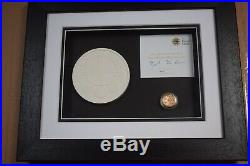 Framed 2010 Royal Mint £1 One Pound 19.61g London Proof Gold Coin Box COA