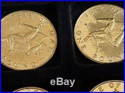 Full Die Mark Set Of IOM Isle Of Man Thin One Pound £1 Perceys Coins RARE