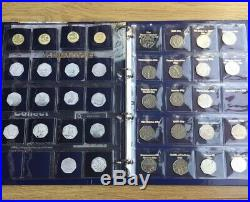Full Set of 24 £1 old round one pound Coins Plus Full set of 35 50p coins Folder