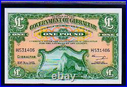 GIBRALTAR P18c 1975 ONE (1) POUND SUPERB GEM UNCIRCULATED BANK NOTE CURRENCY