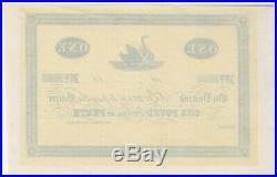 George Shenton Unissued One Pound Trader's Note Ca 1865 Extremely Fine