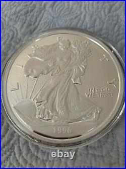 Giant And Rare Uncirculated One Pound Silver Eagle 1996 The Washington Mind