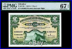 Gibraltar 1965 One Pound Pick-18a SUPERB GEM UNC PMG 67 EPQ