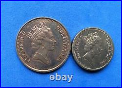 Gibraltar 1994 set £2 & £1 Royal Visit Two Pounds and & One Pound