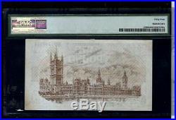 Great Britain (1922-23) One Pound Warren Fisher Treasury Note PMG GEM 64