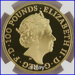 Great Britain 2016 BRITANNIA 1 Oz Gold £100 Pound Proof Coin NGC PF70 First 50