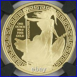 Great Britain 2018 BRITANNIA Oriental 1 Oz Gold 100 Pound Proof Coin NGC PF70 UC