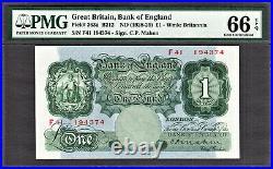 Great Britain / England One Pound MAHON (1928-29) Pick-363a GEM UNC PMG 66 EPQ