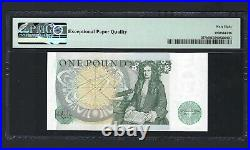Great Britain One Pound ND(1981-84) P377b Uncirculated Graded 68