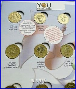 Great British Coin Hunt £1 One Pound Album Full Set COLLECTORS + Completer Medal