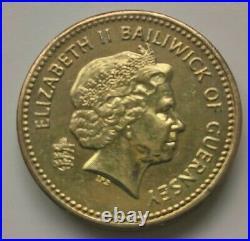 Guernsey 2012 £1 One Pound Coin KEY DATE RAREST ROUND POUND