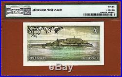 Guernsey One Pound 1969-75 Pick-45a Guillemette GEM UNC PMG 66 EPQ