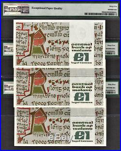 Ireland 3 Consecutive One Pound 21-09-1981 Pick-70b GEM UNC PMG 65 EPQ