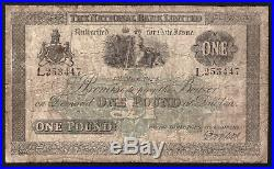 Ireland, National Bank, One Pound, dated 1 May 1924. All Ireland issue. VG